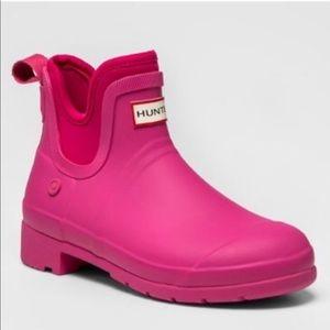 Pink Hunter boots. Too big never worn